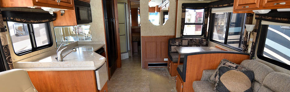 Southern RV Hire vehicle kitchen area